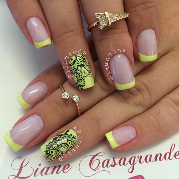 35 french nail art ideas nenuno creative - Fingernails Designs Idea