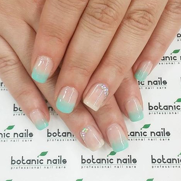 35 french nail art ideas nenuno creative cute baby blue french tips have that fresh and sweet look on your nails by prinsesfo Gallery