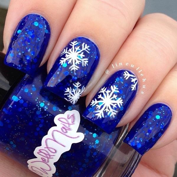 Snowflake Nail Art1