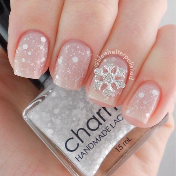 Snowflake Nail Art11