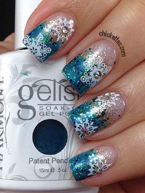 Snowflake Nail Art16