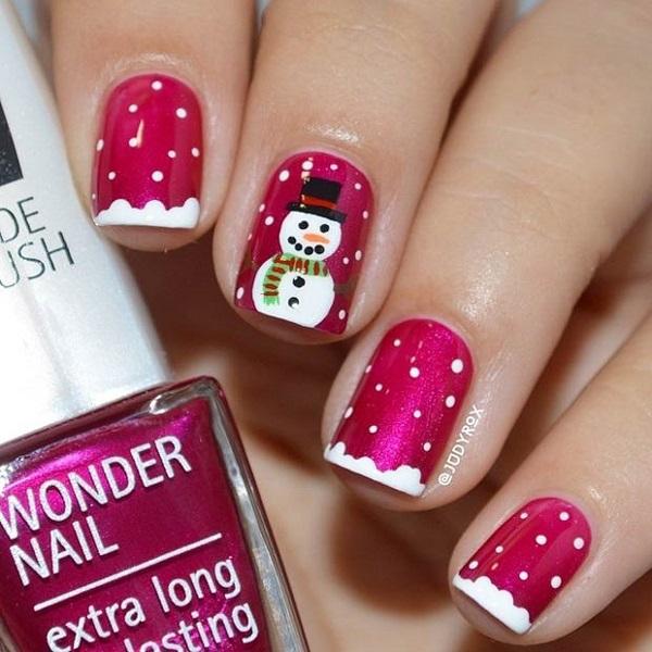Snowflake Nail Art19