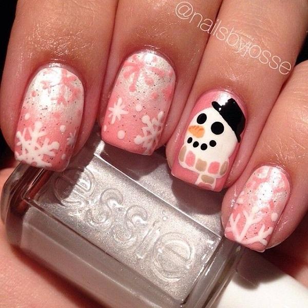 Snowflake Nail Art24