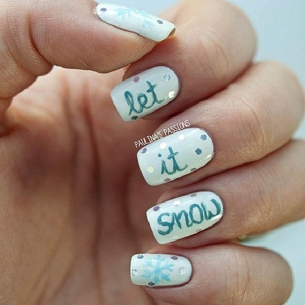 35 Snowflake Nail Art Ideas
