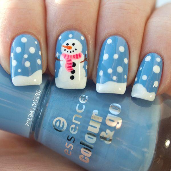Snowflake Nail Art29