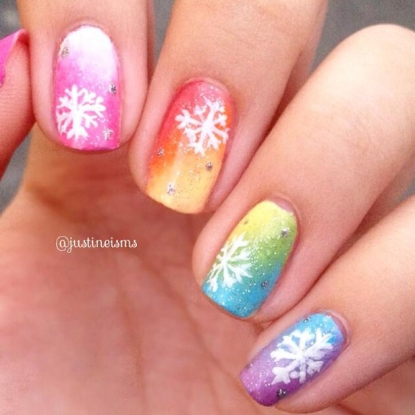 Snowflake Nail Art3