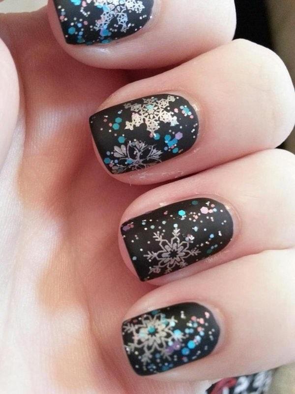 Snowflake Nail Art32