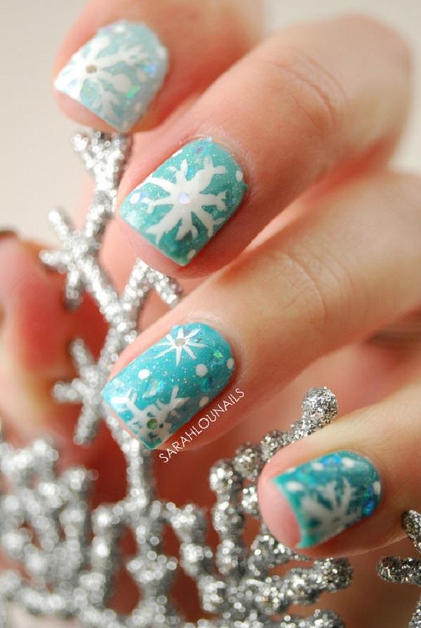 Snowflake Nail Art33