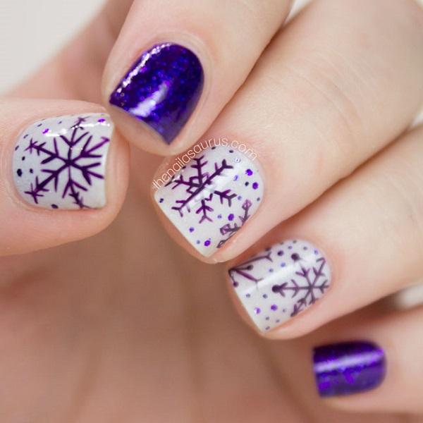 Snowflake Nail Art6