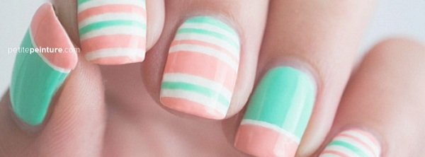 55 Stripe Nail Art Ideas - 55 Stripe Nail Art Ideas - Nenuno Creative