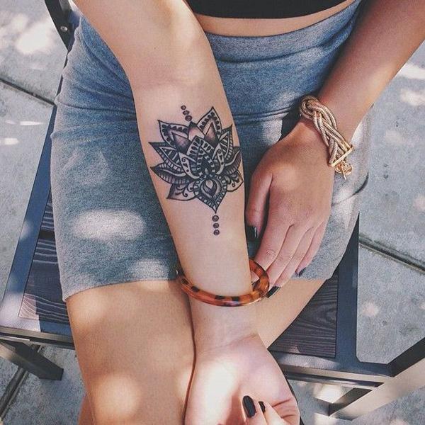 Beautiful Mandala Forearm Tattoo