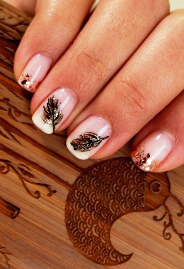 Leaves Nail Art 16