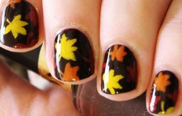 Leaves Nail Art 18