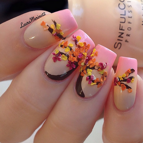 Leaves Nail Art 19