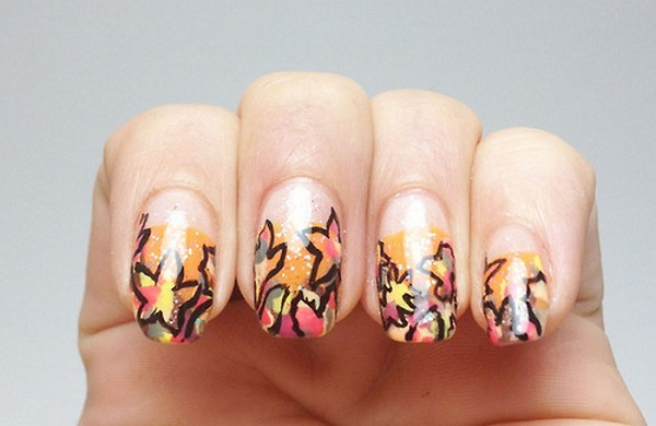 Leaves Nail Art 20