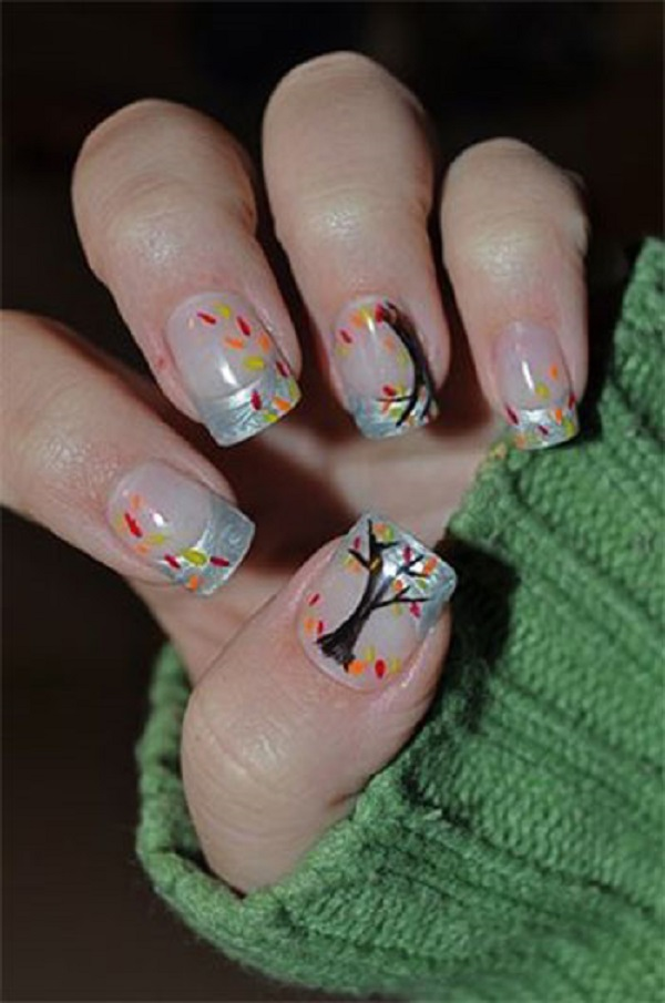35 Leaf Nail Art Ideas - nenuno creative