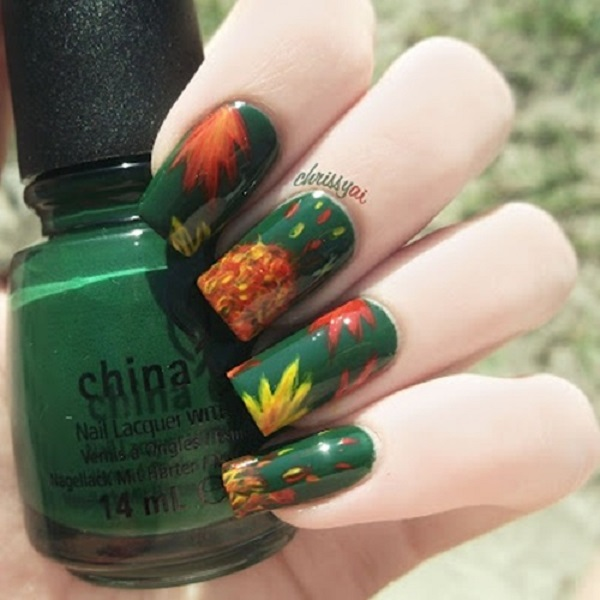 Leaves Nail Art 25
