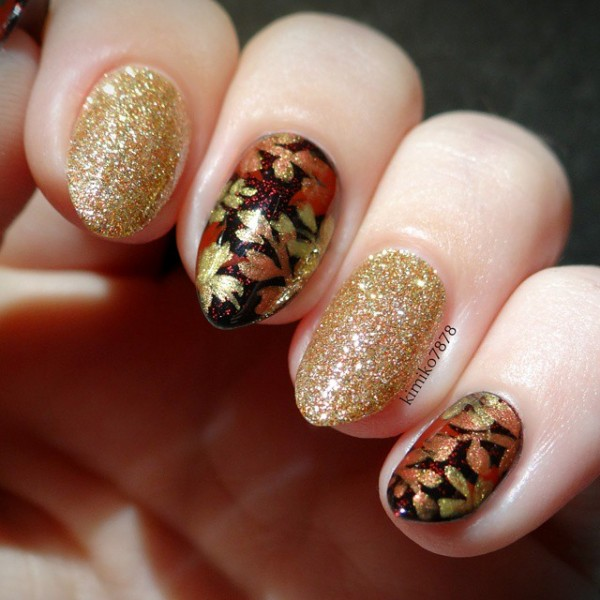 Leaves Nail Art 29