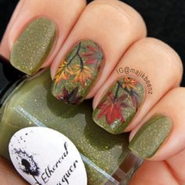 Leaves Nail Art 31