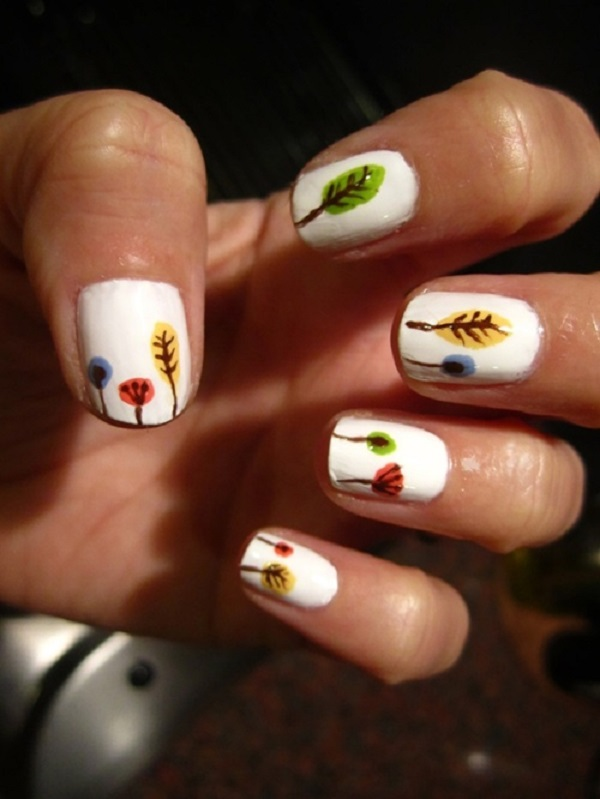 Leaves Nail Art 32