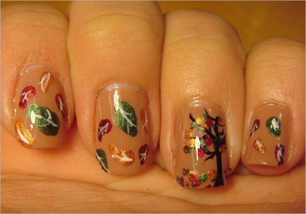 Leaves Nail Art 33
