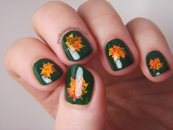 Leaves Nail Art 34