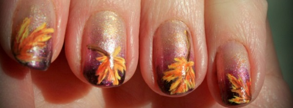 Leaves Nail Art 35  222