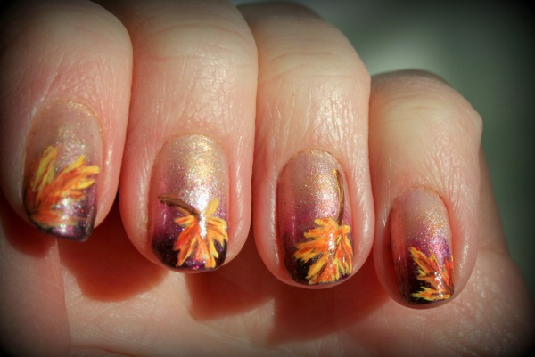 A wonderful leaf nail art design for the French tip. When it comes to French - 35 Leaf Nail Art Ideas - Nenuno Creative