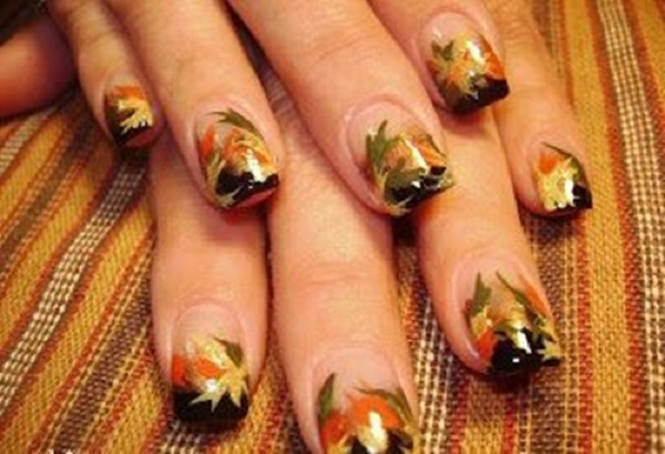 Leaves Nail Art 4