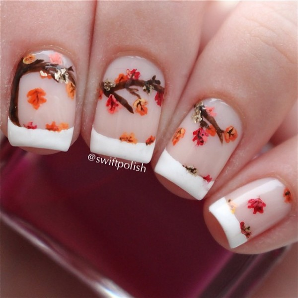 Leaves Nail Art 5