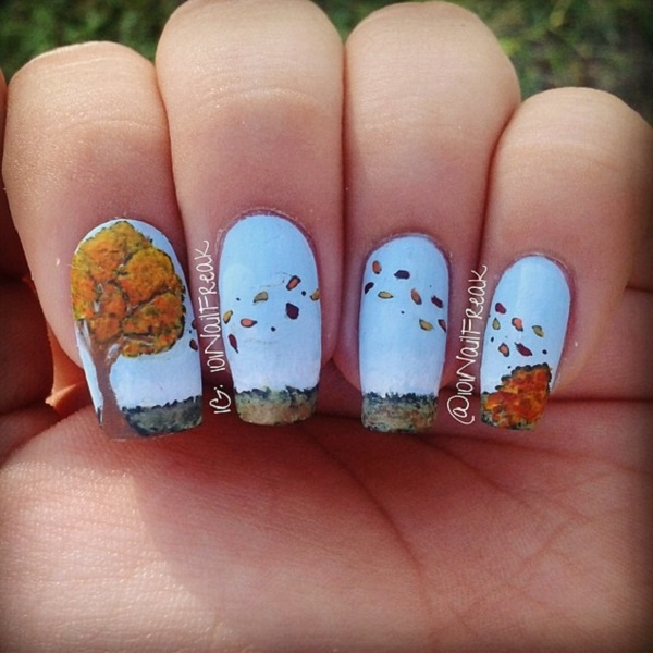 Leaves Nail Art 7