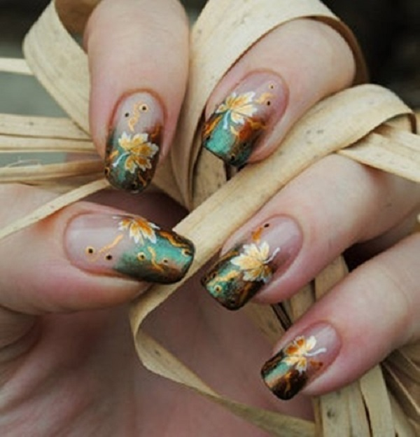 Leaves Nail Art 8