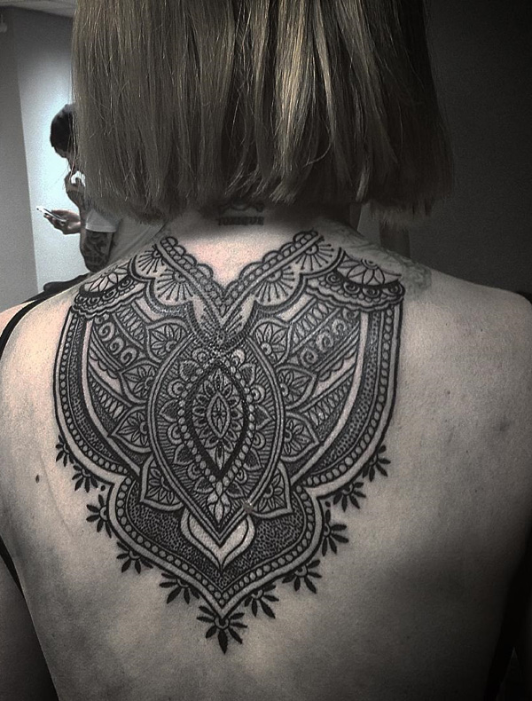 Mandala back tattoo-23