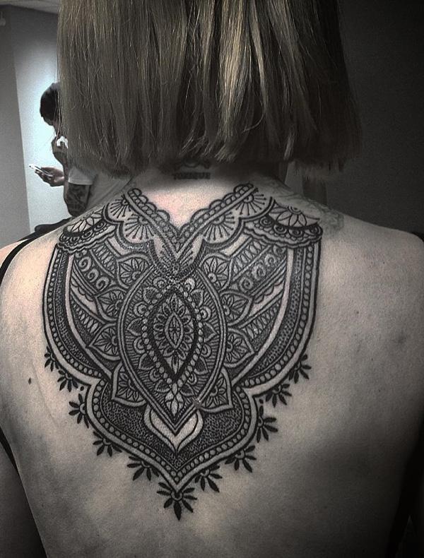 Mandala back tattoo-23