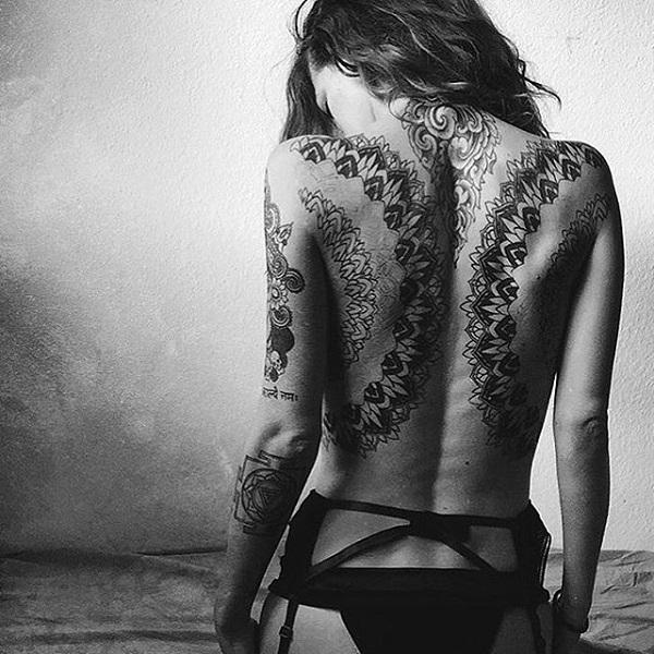 Mandala back tattoo-42