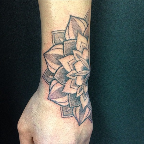 Mandala hand tattoo-35