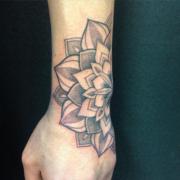 Mandala hand tattoo-35