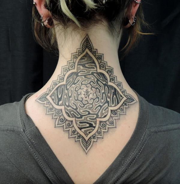 Mandala nack tattoo by Alex-Hennerley