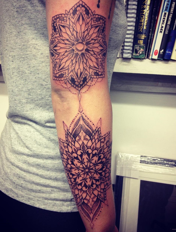 Mandala sleeve tattoo-33
