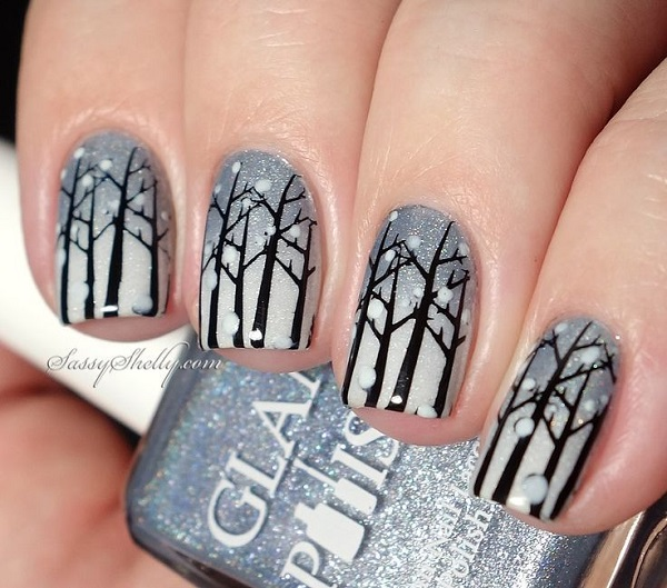Winter Nail Art  1