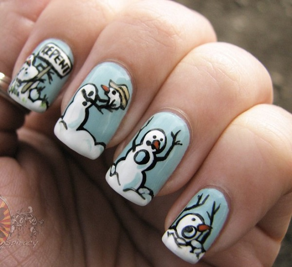 Winter Nail Art  4