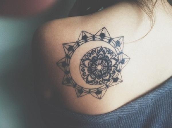 manadala with moon tattoo