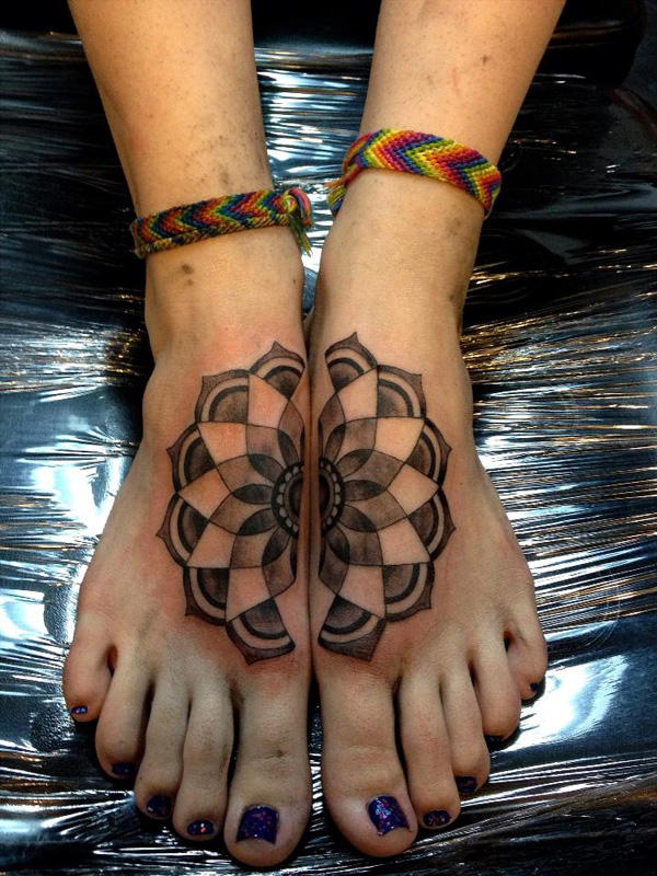 mandala foot tattoo by aireelle-18