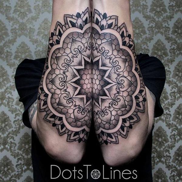 mandala forearm tattoo-11