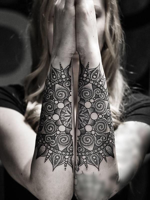 mandala forearm  tattoo-7