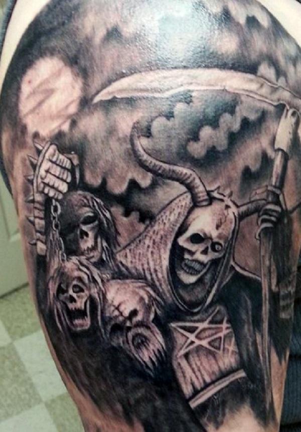 Grim Reaper Back Tattoo: 50 Grim Reaper Tattoo Designs