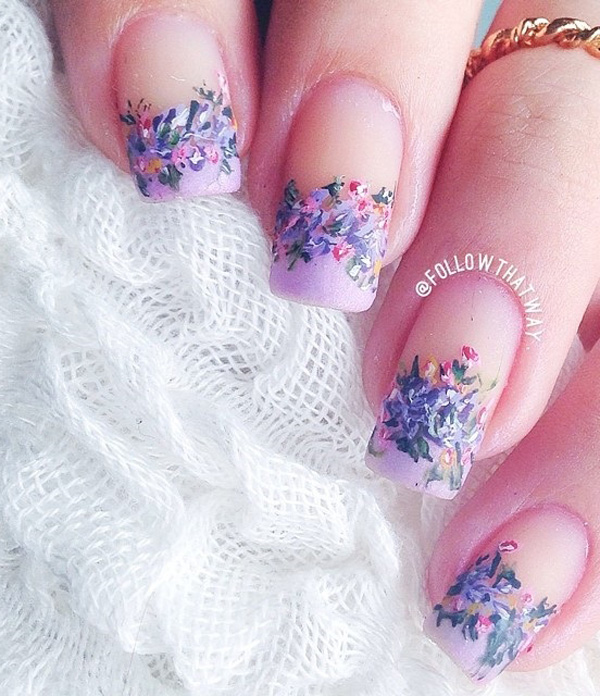 Floral Manicures For Spring And: 50 Lovely Spring Nail Art Ideas