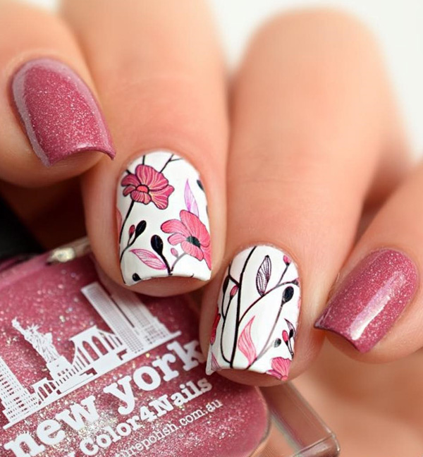 Spring Nail Art: 50 Lovely Spring Nail Art Ideas