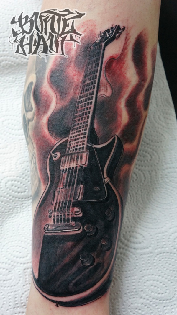 GUITAR TATTOO by graynd