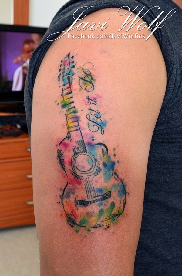 Guitar Tattoo Designs  By Javi Wolf